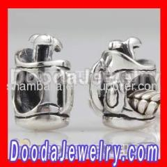 european Silver Golf Bag and Golf Clubs Charms