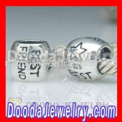 2012 Silver european Best Friend Charms Beads