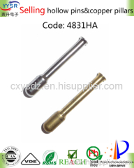 hollow not solid brass pin & copper pillar