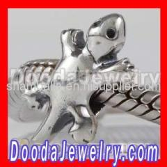 Cheap Silver european Gecko Charms