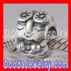 Cheap european Silver Owl Charms