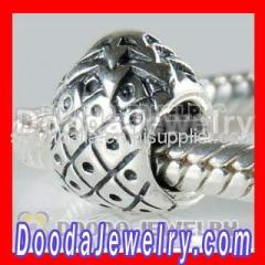 Silver european Pineapple Charms Bead