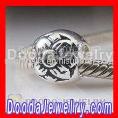 Silver european Flower Beads Wholesale