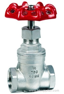 brass type thread gate valve
