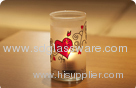 american glass candle holders