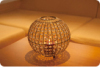 Cage shaped lamp shade