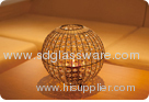 Cage shaped glass lamp shade
