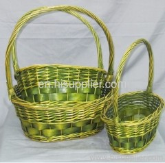 willow products/ flower basket/ gift basket