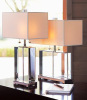 Crystal table lamp(TL-1202&11141CG) with fabric shade