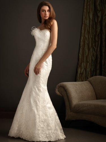 Newest White Strapless Wedding dresses