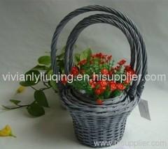 flower willow basket