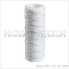 Cotton string wound water filter cartridges with PP core