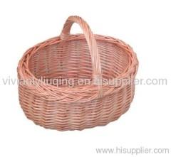 cheap wicker shopping handle basket