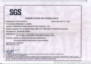 SGS Certificate for Household Ladders