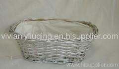 oval bread willow wicker basket