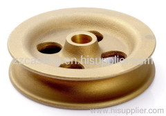 Brass pulley Casting CNC fittings