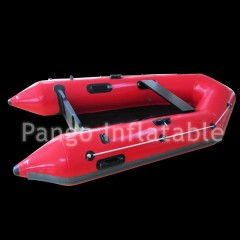 Red inflatable motor boats