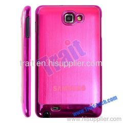 High Quality Metal Hard Case Back Cover for Samsung Galaxy Note i9220 (Hot Pink)