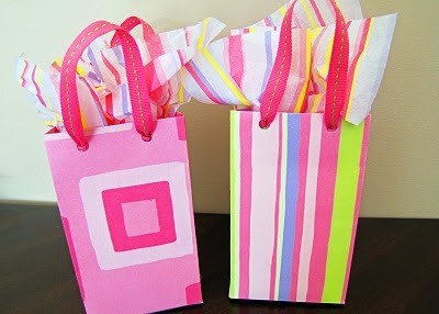 Scrapbook Paper Party Gift Bags