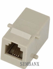 Cat3 6p4c Coupler keystone jack