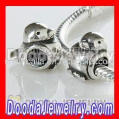 european Silver Happy Bird Charm Beads