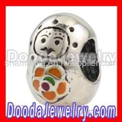 european Silver Babushka Doll Charm Beads