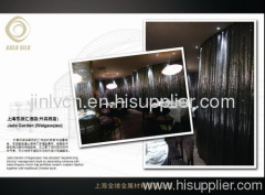 shimmering metallic cloth/metal fabric curtain