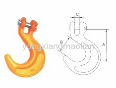 Large opening container hooks