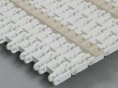 Plastic flush grid modular conveyor belt