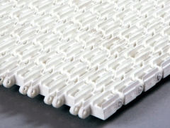 Perforated top straight running modular conveyor belt