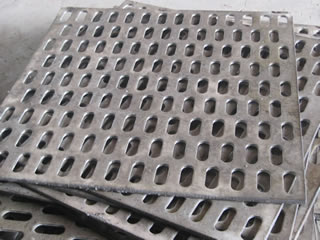 Perforated steel meshes