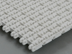 flush grid straight run plastic modular conveyor belt
