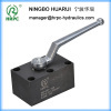 manifold hydraulic high pressure ball valve with 6 holes or 4 holes