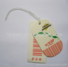 printed hang tag