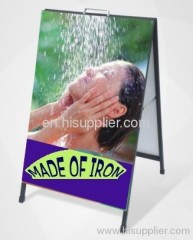 iron A board pavement sign swing frame display stand