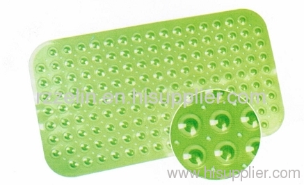 Green color bathroom PVC mats
