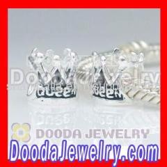 silver european queen crown charms for bracelets