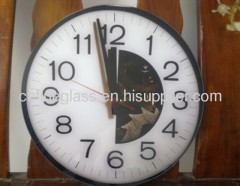 Decorative clock glasses