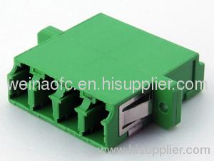fibre optic adapter lc quad aqua apc singlemode