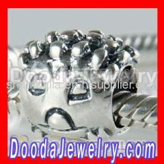 Silver Hedgehog european Charms On Sale