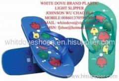 Cheap men's white dove pvc slipper