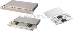 Deslizamiento fibra óptica Patch Panel de 24 puertos