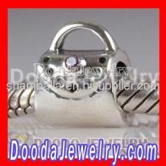european Silver Handbag charm beads