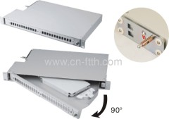 90 Grad drehbares Faseroptik-Patch-Panel