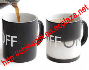 ON OFF Color Changing Ceramic Cup