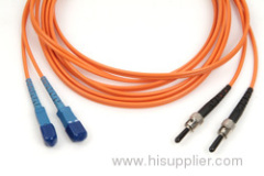 ST-SC double multimode patch cord