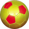 Foam pvc laser leather football soccer ball