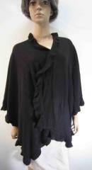 black acrylic woven wrap