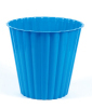 Blue Color Circle Plastic Dustbin