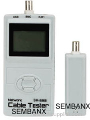 Multi-function cable tester with LCD CABLE TESTER